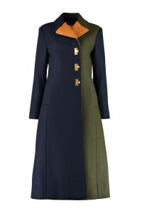 Tory Burch Color-block Wool Coat