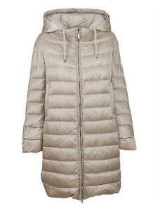 Beige Technical Fabric Padded Coat