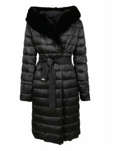 Black Technical Fabric Padded Coat