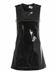 Chiara Ferragni Black Vinyl Dress