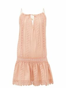 Melissa Odabash - Chelsea Embroidered Cotton Mini Dress - Womens - Tan