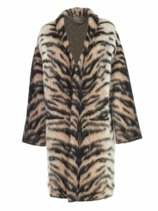 Laneus Coat Knit Tiger
