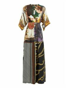 Rianna + Nina - Vintage Patchwork Silk Maxi Dress - Womens - Multi