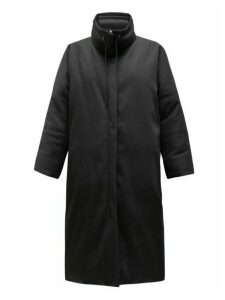 The Row - Reka High Neck Down Filled Cotton Coat - Womens - Black