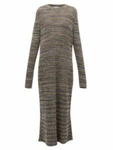 Raey - Space Dyed Yarn Knitted Maxi Dress - Womens - Grey Multi
