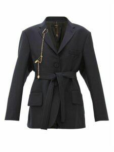 Ellery - Kadist Single Breasted Chain Charm Blazer - Womens - Navy