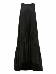 Romance Was Born - Venus Tiered Taffeta Maxi Dress - Womens - Black