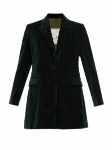 Giuliva Heritage Collection - Karen Single Breasted Velvet Blazer - Womens - Green