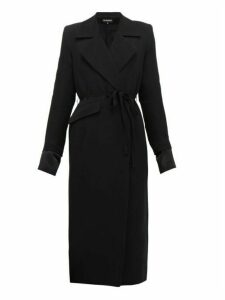 Ann Demeulemeester - Asymmetric Wool Blend Twill Coat - Womens - Black