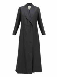 Giuliva Heritage Collection - The Angelica Herringbone Silk Blend Coat - Womens - Navy