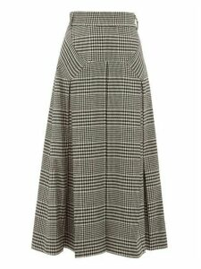 Emilia Wickstead - Giuliana Prince Of Wales Check Wool Blend Skirt - Womens - Black White