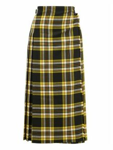Le Kilt - Pleated 88cm Tartan Wool Skirt - Womens - Black