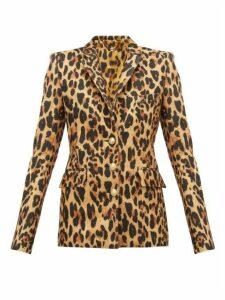 Paco Rabanne - Leopard Print Wool Blend Blazer - Womens - Leopard