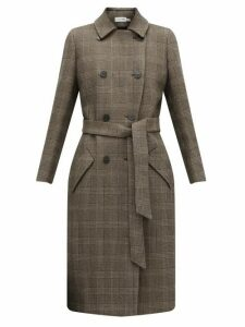 Cefinn - Sullivan Checked Double Breasted Cotton Blend Coat - Womens - Brown Multi