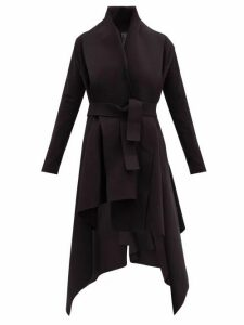 Norma Kamali - Asymmetric Cotton Blend Coat - Womens - Black