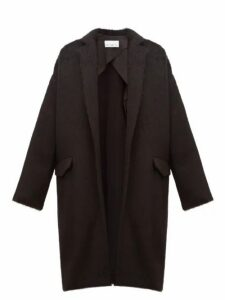 Raey - Notch Lapel Alpaca Blend Blanket Coat - Womens - Black
