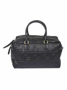 Fendi Embossed Double F Top Box Tote