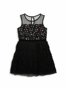Girl's Mesh Sequined Dress