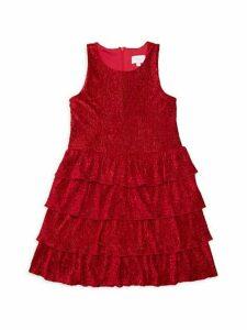 Girl's Velvet Dress