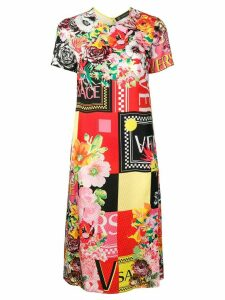 Versace floralmania print dress - Red