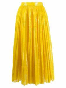 MSGM pleated sequin midi skirt - Yellow