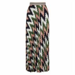 M Missoni Zigzag-print Crepe Maxi Skirt
