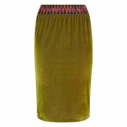 Traffic People Jic Pencil Skirt In Green