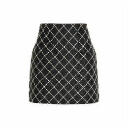 Giuseppe Di Morabito Crystal-embellished Satin Mini Skirt