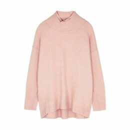Free People Afterglow Light Pink High-neck Jumper