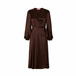 Kitri Diana Chocolate Wrap Dress
