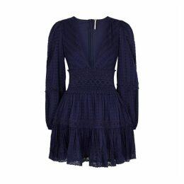 Free People The Delightful Navy Cotton Mini Dress