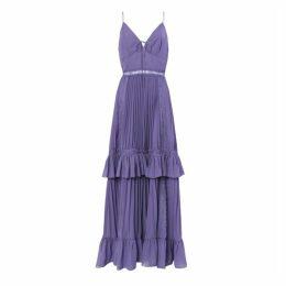 True Decadence True Decadence Dusty Purple Pleated Maxi Dress