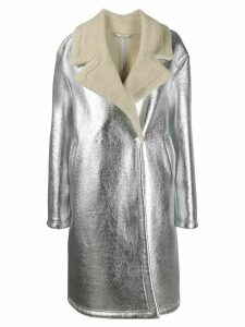 Essentiel Antwerp oversized shearling coat - Silver