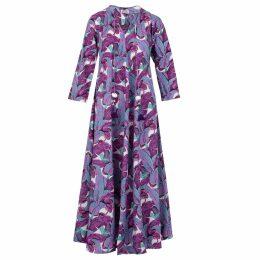 Libelula - Long Millie Dress Black Fireworks Print