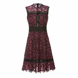 Nissa - Embroidered Lace Dress With Chest Detail
