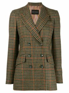 Etro houndstooth check blazer - Brown