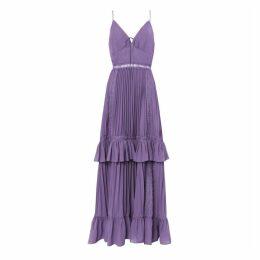 True Decadence - Dusty Purple Pleated Maxi Dress