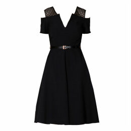 Mellaris - Iviron Dress Black With Lace Contrast