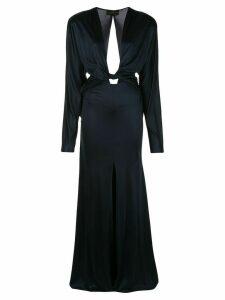 Dundas long sleeved slit dress - Blue
