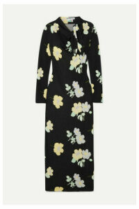 BERNADETTE - Jil Floral-print Stretch-jersey Maxi Dress - Black