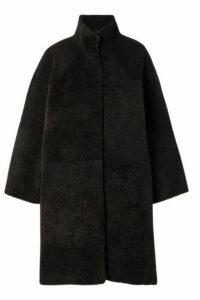 REMAIN Birger Christensen - Tune Reversible Shearling Coat - Dark brown