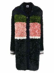 M Missoni block colour knit cardi-coat - Blue