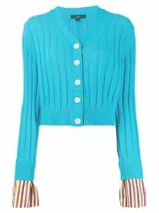Jejia striped cuff cardigan - Blue
