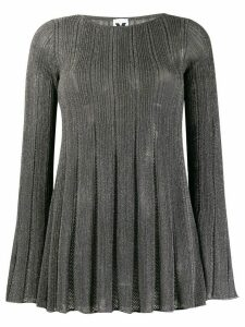 M Missoni long sleeved lurex top - Silver