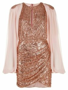 Giamba sequin embroidred dress - PINK