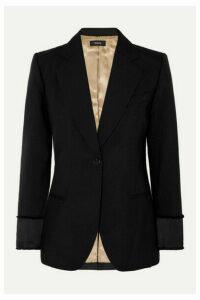 Theory - Grain De Poudre Wool Blazer - Black