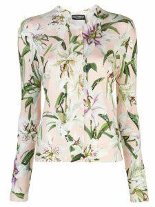 Dolce & Gabbana lily print cardigan - Pink