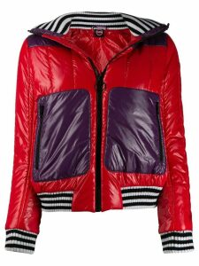 Colmar colour block puffer jacket - Red