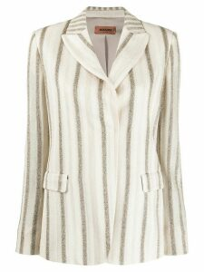 Missoni striped lurex knit blazer - NEUTRALS