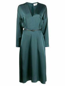 LANVIN V-neck belted midi dress - Blue